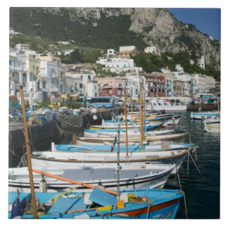 L'ITALIE, Campanie, (baie de Naples), CAPRI : Mari Grand Carreau Carré