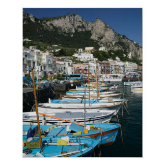 L'ITALIE, Campanie, (baie de Naples), CAPRI : Mari Posters