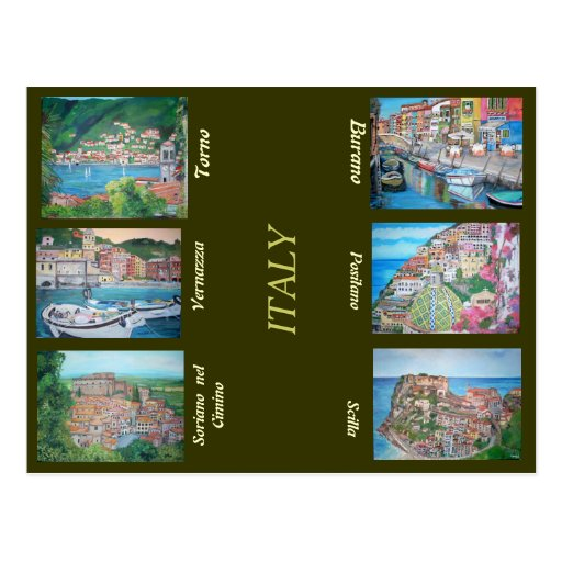 L'Italie - carte postale