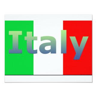 L'Italie Carton D'invitation 10,79 Cm X 13,97 Cm