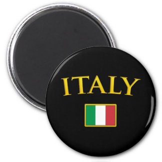 L'Italie d'or Magnet Rond 8 Cm
