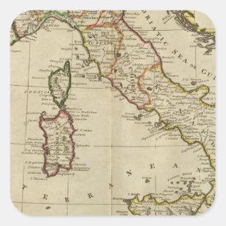 L'Italie, et la Sardaigne Stickers Carrés