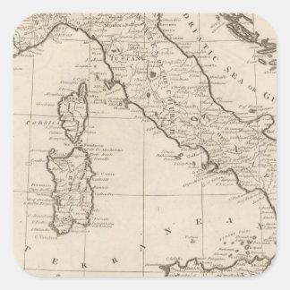 L'Italie, et la Sardaigne Sticker Carré