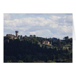 L'Italie, Florence, château sur le sommet 2 Carte De Vœux