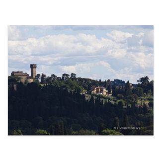 L'Italie, Florence, château sur le sommet 2 Carte Postale
