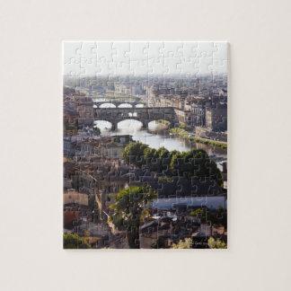 L'Italie, Florence, le Ponte Vecchio et le fleuve  Puzzle