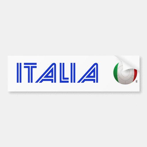 L'Italie - le football de Squadra Azzurra Adhésif Pour Voiture