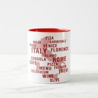 L'Italie Mug Bicolore