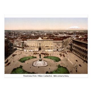 L'Italie - panorama de cathédrale de Milan Cartes Postales