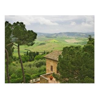 L'Italie, Pienza. Vue de la Toscane Carte Postale