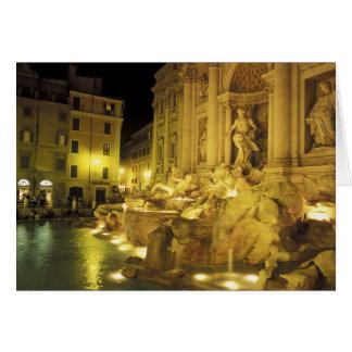 L'Italie, Rome. Fontaine de TREVI la nuit Carte De Vœux