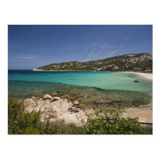 L'Italie, Sardaigne, Baja Sardaigne. Plage de Carte Postale