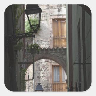 L'Italie, Sardaigne, Bosa. Détail de rue Sticker Carré