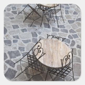 L'Italie, Sardaigne, Castelsardo. Tables de café Stickers Carrés