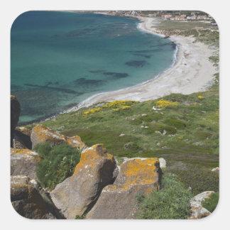L'Italie, Sardaigne, Tharros. Vue de l'Espagnol Stickers Carrés