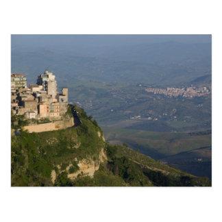 L'Italie, Sicile, Enna, vue de ville des Di de Carte Postale