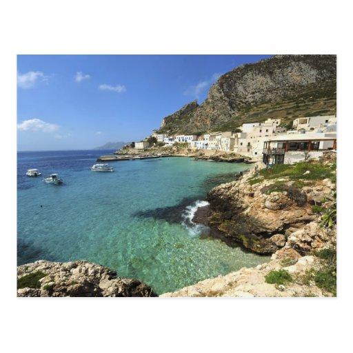 L'Italie, Sicile, îles d'Egadi, Levanzo, Cartes Postales