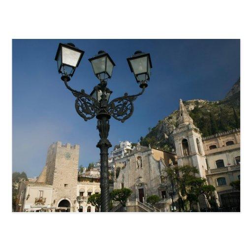 L'ITALIE, Sicile, TAORMINA : Piazza IX Aprile, San Cartes Postales