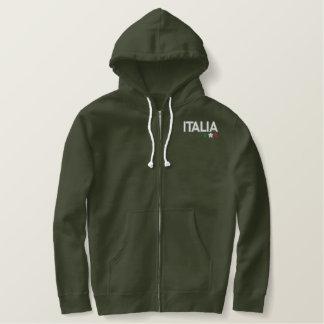 L'Italie Sweatshirt À Capuche Brodé