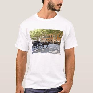 L'Italie, Toscane, Lucques, calèche sur Piazza T-shirt