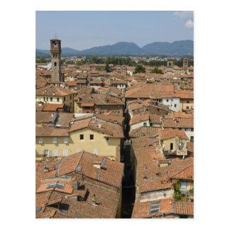 L'Italie, Toscane, Lucques, vue de la ville et Carte Postale