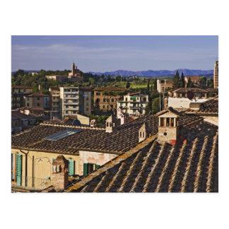 L'Italie, Toscane, Sienne. Vue de dessus de toit Carte Postale