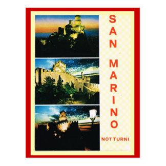 L'Italie vintage, affiche de voyage, Saint-Marin Cartes Postales