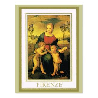 L'Italie vintage, Firenze, galerie d'Uffizi Carte Postale