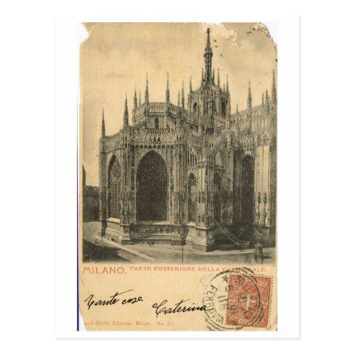L'Italie vintage, Milan, Duomo 1900 Carte Postale