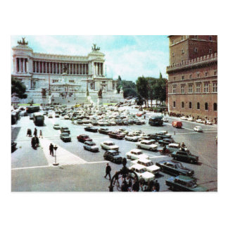 L'Italie vintage, Rome, Piazza Venezia Carte Postale