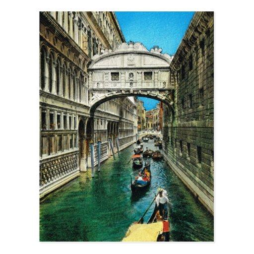 L'Italie vintage, Venise, pont des soupirs Cartes Postales