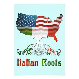 L'Italien américain enracine l'invitation Carton D'invitation 12,7 Cm X 17,78 Cm