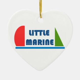 little marine ornement cœur en céramique