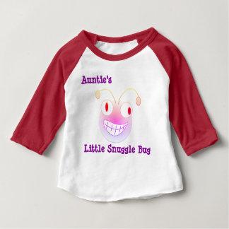 Little Snuggle Bug de tante T-shirt Pour Bébé