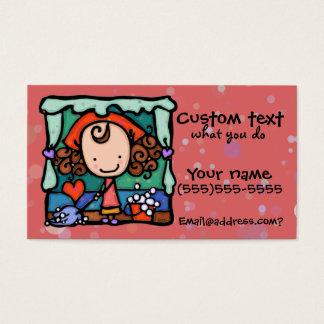 LittleGirlie favorise ses affaires de nettoyage ! Cartes De Visite