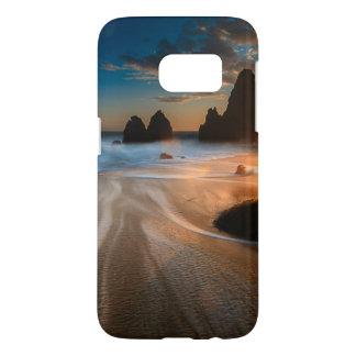 Littoral au coucher du soleil | la Californie du Coque Samsung Galaxy S7