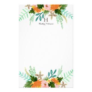 Littoral personnalisé de | floral papier à lettre customisable