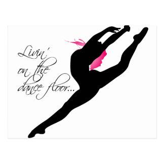 Livin sur le danseur rose de Dance Floor Carte Postale