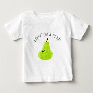 Livin sur une poire t-shirt pour bébé
