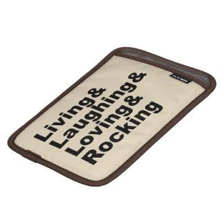 Living&Laughing&Loving&ROCKING (noir) Housse iPad Mini