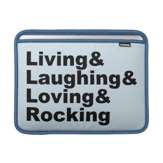 Living&Laughing&Loving&ROCKING (noir) Housse Macbook Air