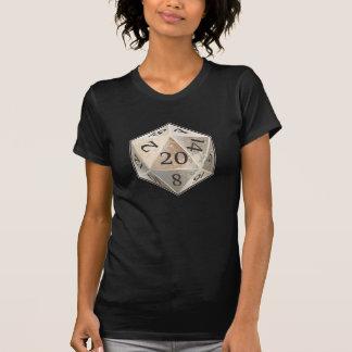 L'ivoire de D&D d20 et l'OS noir meurt T-shirt
