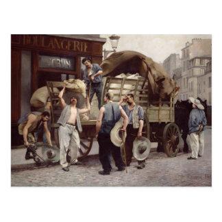 Livraison de la farine, 1885 cartes postales