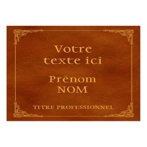 Livre ancien modèle de carte de visite de zazzle.fr