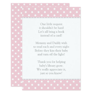 Livre au lieu d'insertion de baby shower de la carton d'invitation 8,89 cm x 12,70 cm
