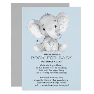 Livre de baby shower d'éléphant pour la carte de
