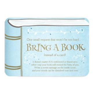 Livre de contes apportent à un livre le bleu carton d'invitation 8,89 cm x 12,70 cm