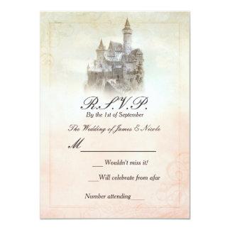 Livre de contes de château de conte de fées carton d'invitation  11,43 cm x 15,87 cm