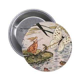 Livre de contes vintage Thumbelina Badge Rond 5 Cm