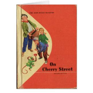 Livre de lecture vintage des 'années 50 (carte de cartes de vœux